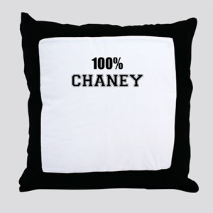 100% CHANEY Throw Pillow