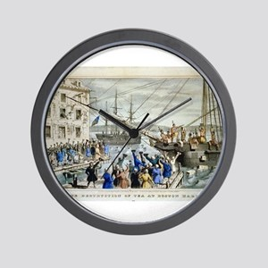 currier ives 19th century illustration Wall Clock