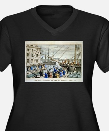 currier ives 19th century illustration Plus Size T