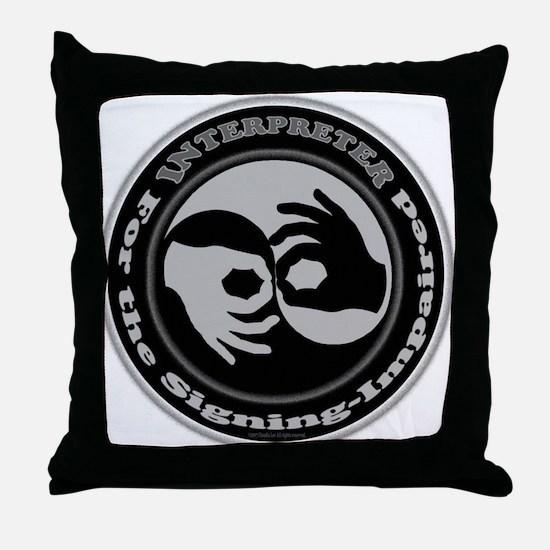 Cute Asl Throw Pillow