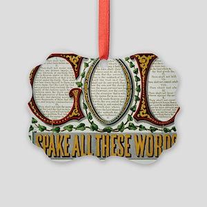 10 commandments Ornament