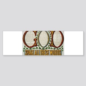 10 commandments Bumper Sticker