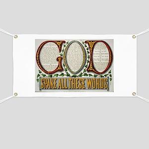 10 commandments Banner