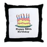 Happy 80th Birthday Throw Pillow