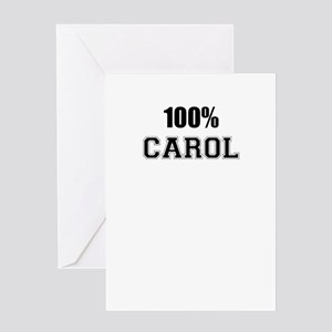 100% CAROL Greeting Cards