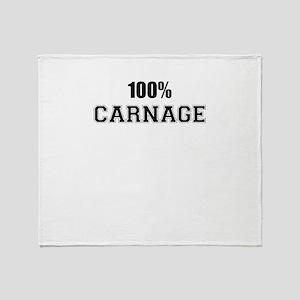 100% CARNAGE Throw Blanket