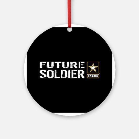 U.S. Army: Future Soldier (Black) Round Ornament