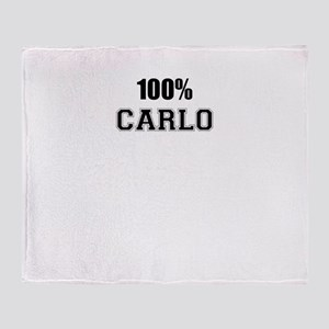 100% CARLO Throw Blanket