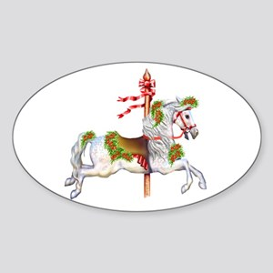 Carousel Horse Oval Sticker