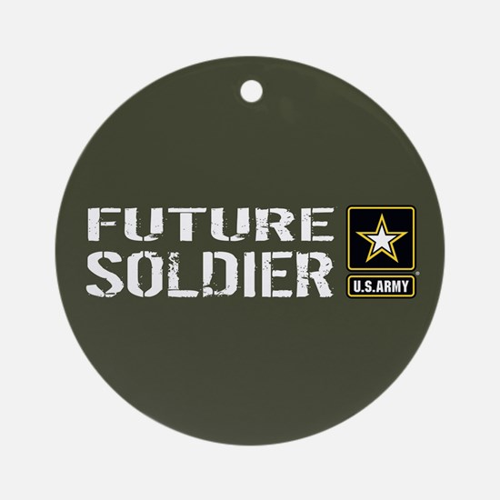 U.S. Army: Future Soldier (Military Round Ornament