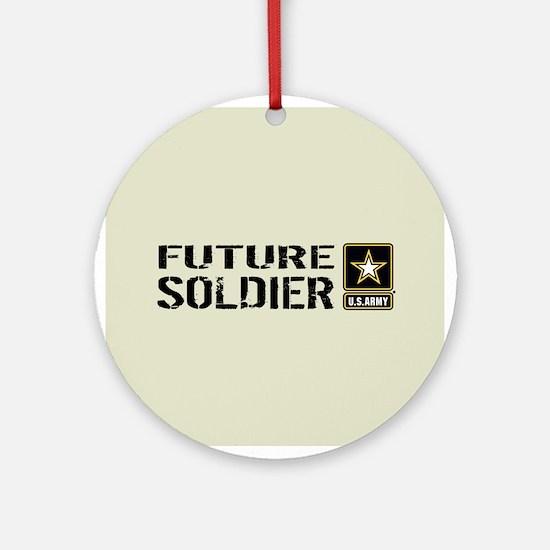 U.S. Army: Future Soldier (Sand) Round Ornament