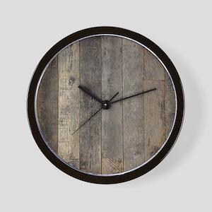 country farmhouse barn wood Wall Clock