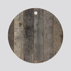 country farmhouse barn wood Round Ornament