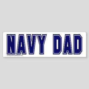 Navy dad Bumper Sticker