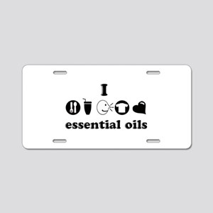 essential oil love Aluminum License Plate