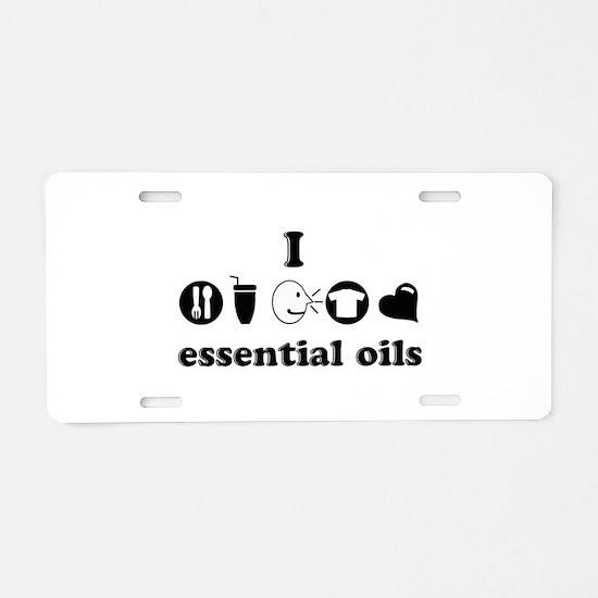 essential oil love Aluminum License Plate