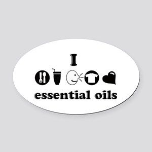 essential oil love Oval Car Magnet