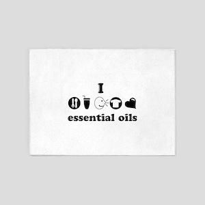 essential oil love 5'x7'Area Rug
