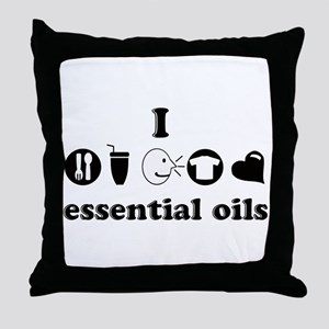 essential oil love Throw Pillow