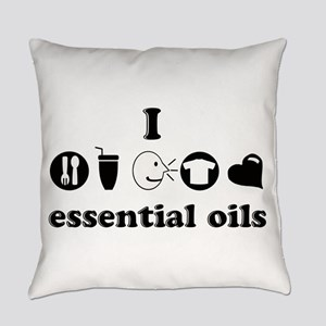 essential oil love Everyday Pillow