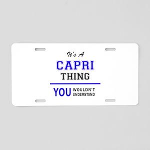 CAPRI thing, you wouldn't u Aluminum License Plate