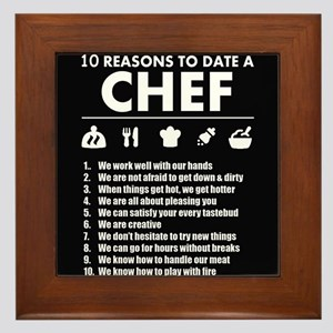 Reasons To Date A Chef Framed Tile