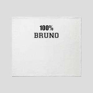 100% BRUNO Throw Blanket