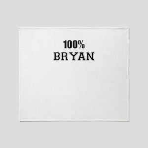 100% BRYAN Throw Blanket