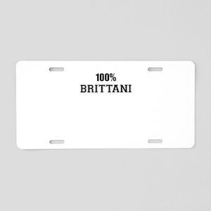 100% BRITTANI Aluminum License Plate
