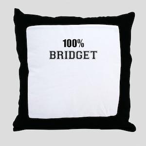 100% BRIDGET Throw Pillow