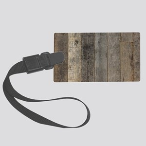 country farmhouse barn wood Large Luggage Tag