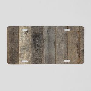 country farmhouse barn wood Aluminum License Plate