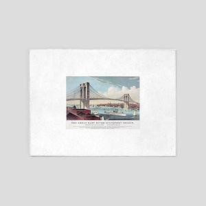 brooklyn bridge 5'x7'Area Rug