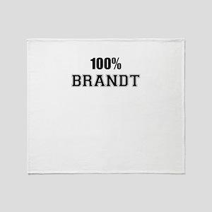 100% BRANDT Throw Blanket