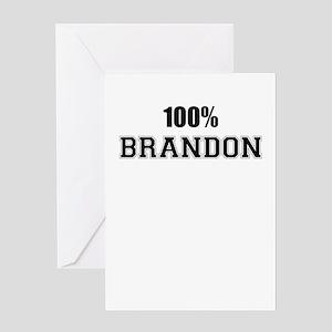 100% BRANDON Greeting Cards