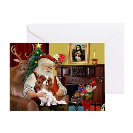 Santa's Cavalier (BL) Greeting Card