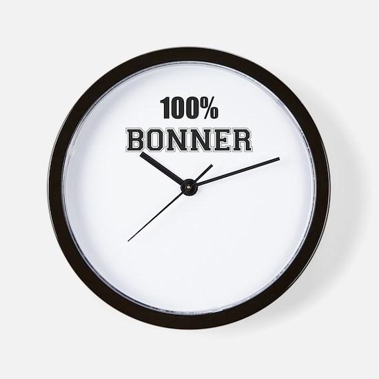 100% BONNER Wall Clock