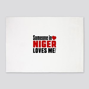 Someone In Niger Loves Me 5'x7'Area Rug