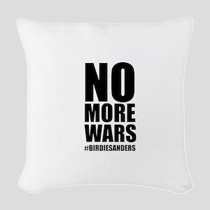 No More Wars Woven Throw Pillow