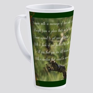 Cardinal Message 17 oz Latte Mug