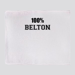 100% BELTON Throw Blanket