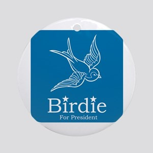 Birdie for President Round Ornament