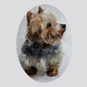 Yorkshire Terrier DOG Oval Ornament