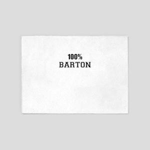 100% BARTON 5'x7'Area Rug