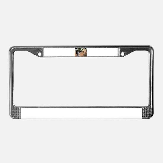 Nala the golden and Konnor pla License Plate Frame