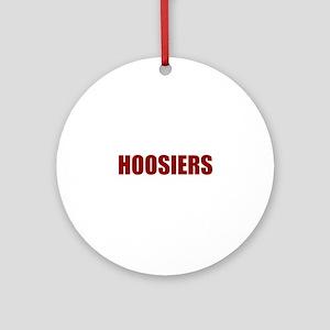 Hoosier Round Ornament