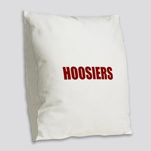 Hoosier Burlap Throw Pillow