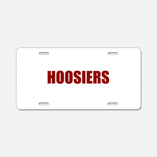 Hoosier Aluminum License Plate