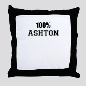 100% ASHTON Throw Pillow