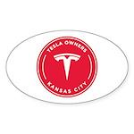 Tesla Owners Club KC Sticker (Oval 10 pk)